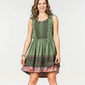 Matilda Jane green light rising Camp MJC dress XS
